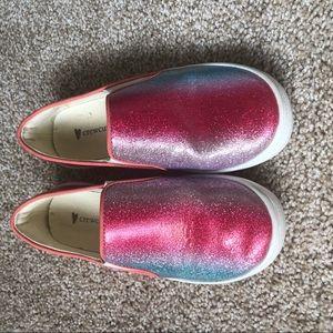 Crewcuts Glittery Slip On Shoes
